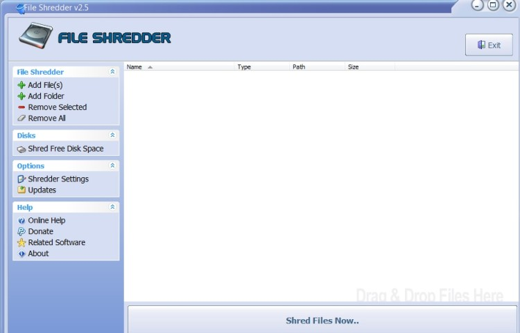 file shredder programma eliminare definitivamente file dal PC