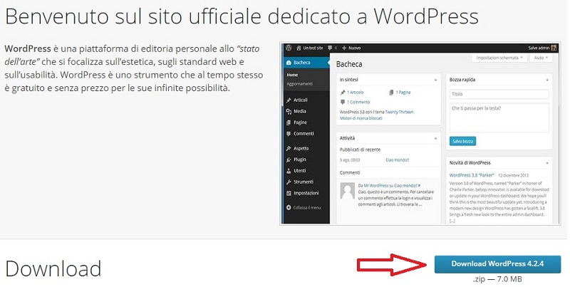 sito download wordpress