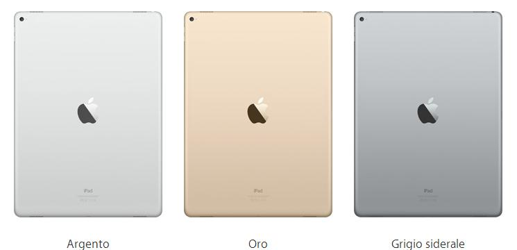 colori ipad pro apple