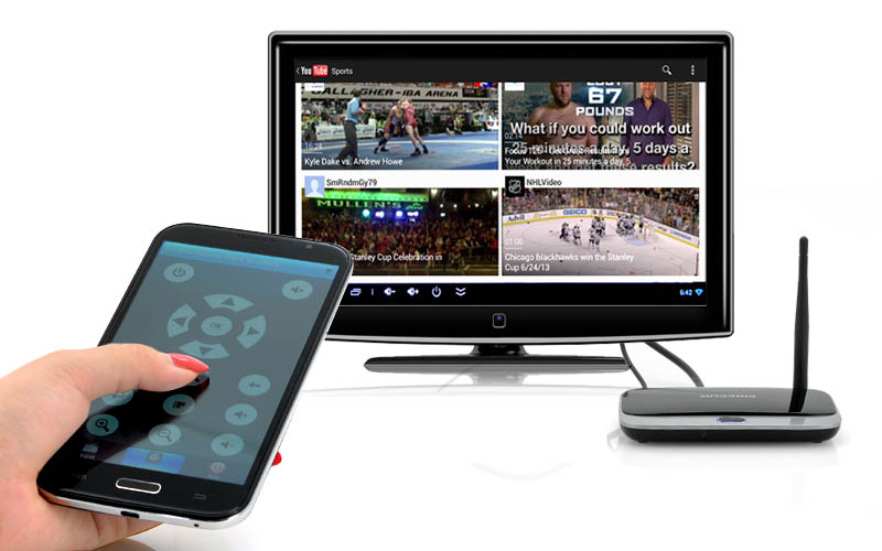 smartphone e tv smart dlna